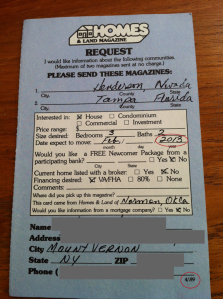 Homes & Land Request line card